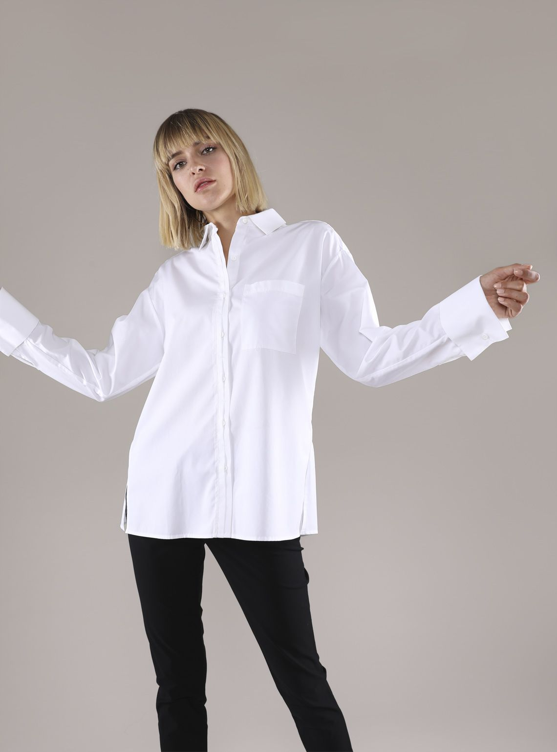 Make a Shirtdress From An Oversized Shirt