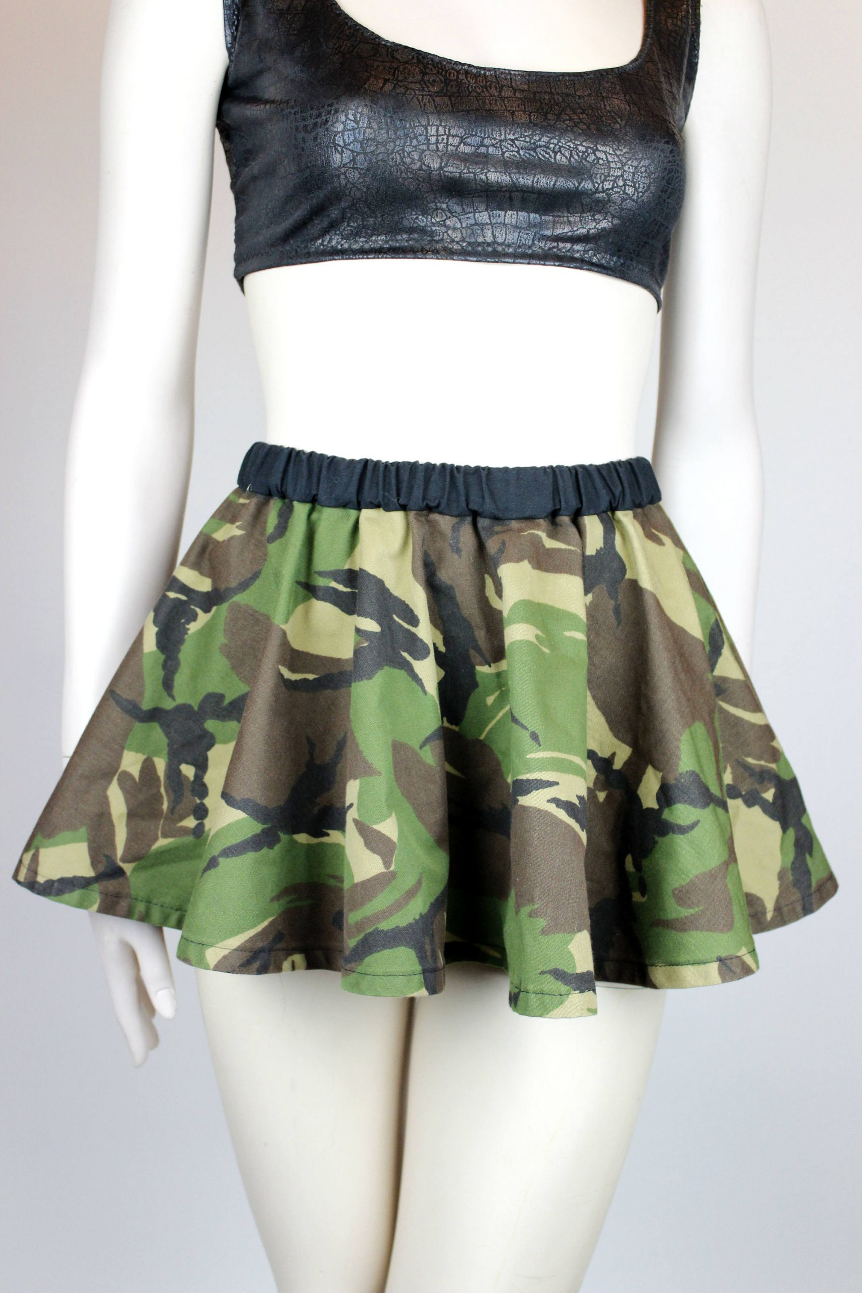 Make a Military Skirt Using a Trench Coat